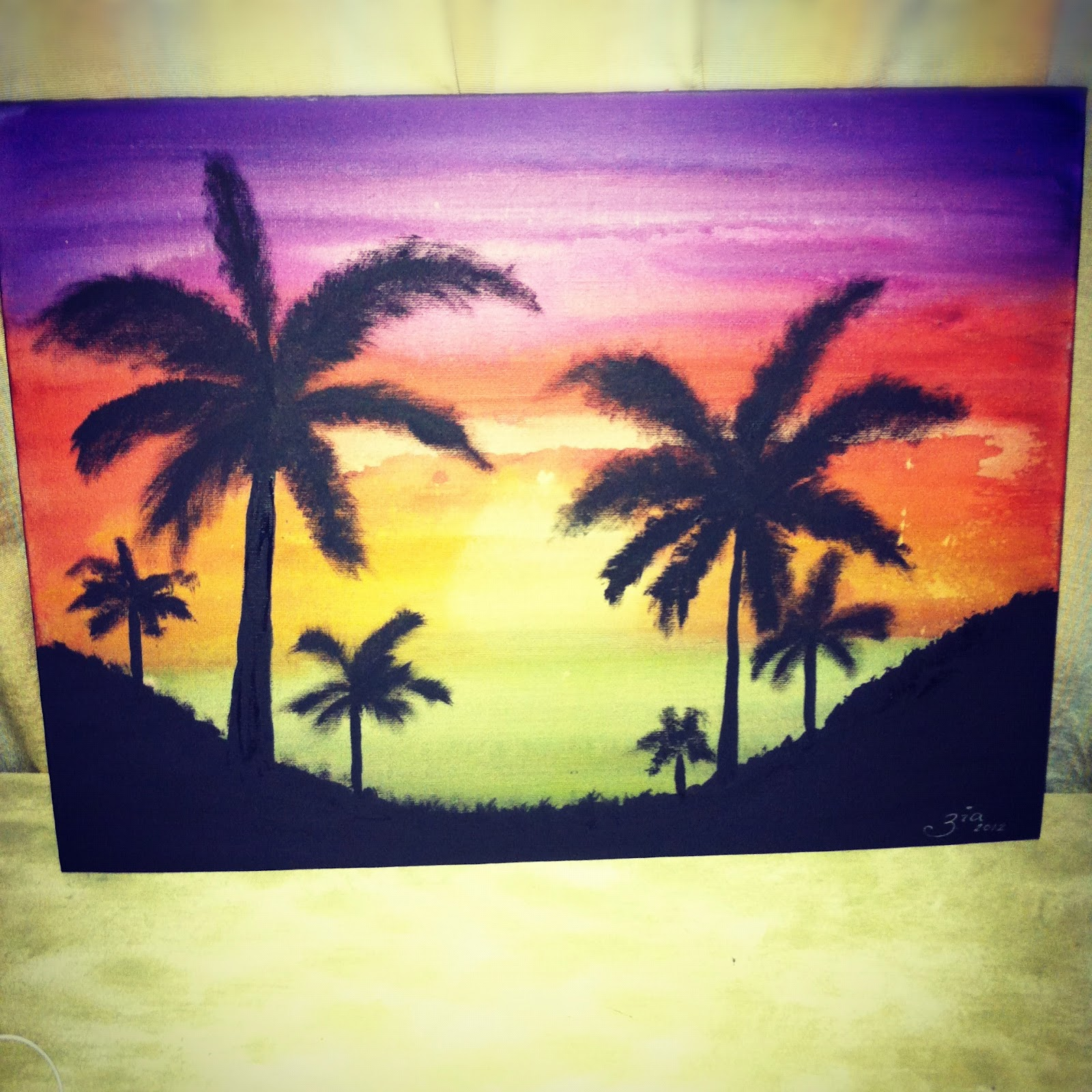 Easy watercolor paintings of sunsets for Watercolor pictures to paint
