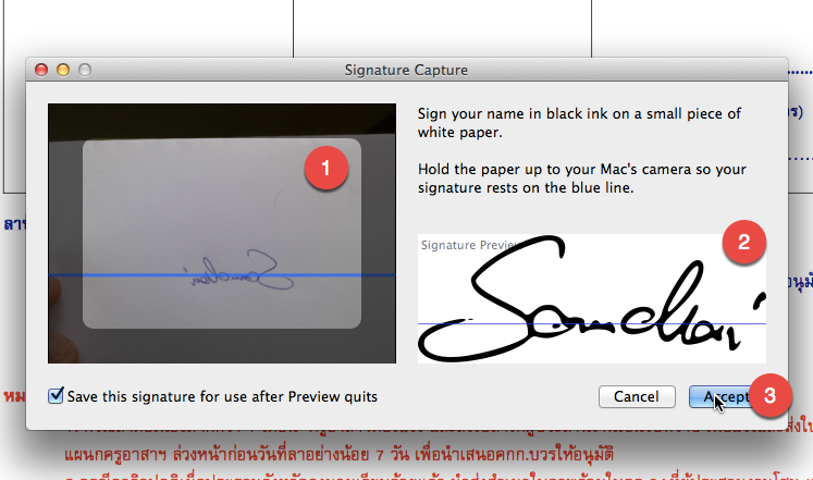 how to add signature to preview in mac