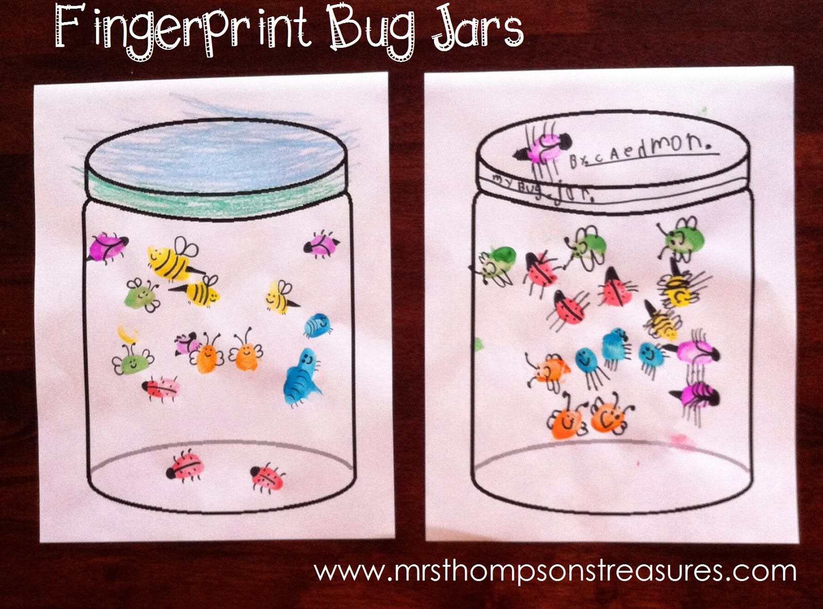 fingerprint bug jars mrs thompson s treasures