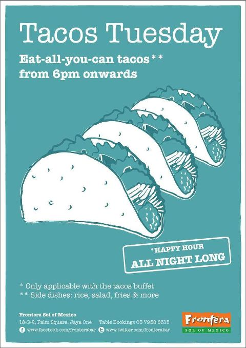 Tacos Tuesday at Frontera Sol Of Mexico Jaya One
