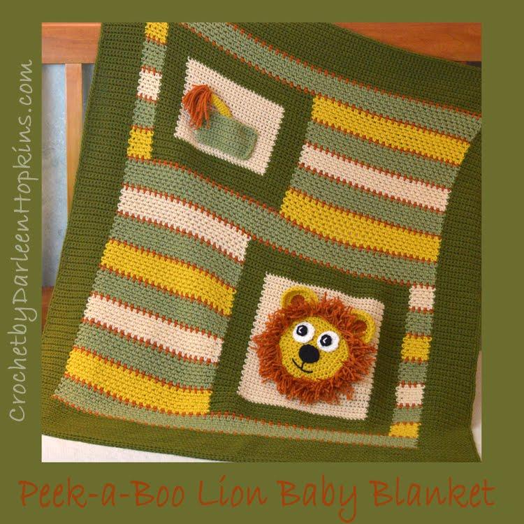 Peek-a-Boo Lion Baby Blanket