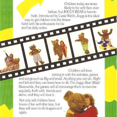 Lizzie and Joggy Bear Video Back Cover