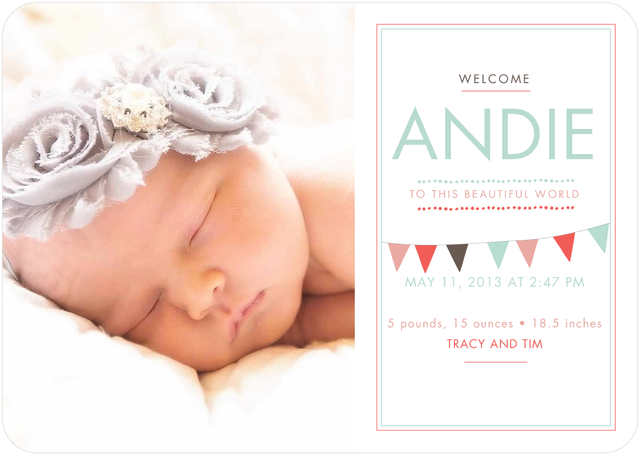 Then I Got To Thinking Andies Birth Announcements – Tiny Prints Birth Announcement