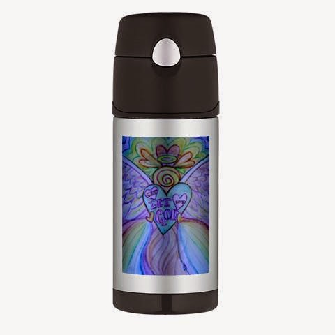 Let Love, Let God Rainbow Angel Thermos® Bottle