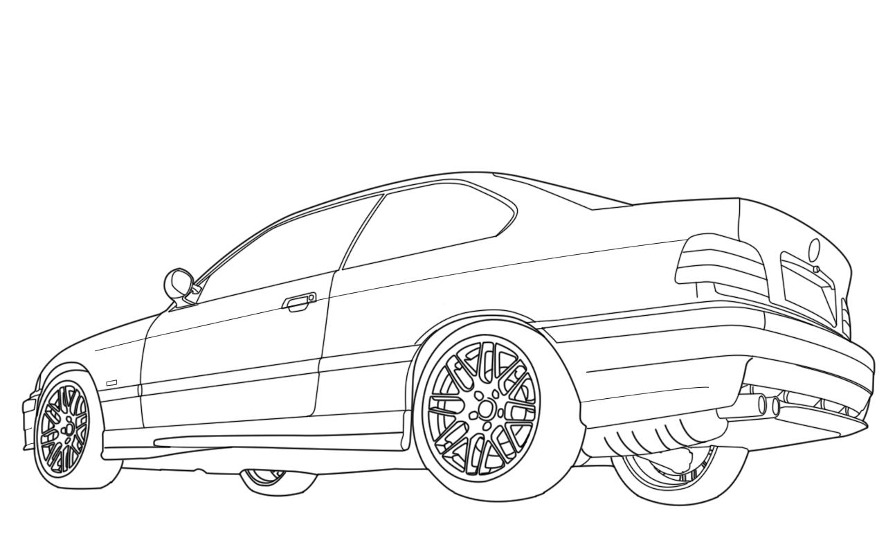 carros esportivos para colorir