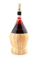 bottle of chianti with fiasco straw cover