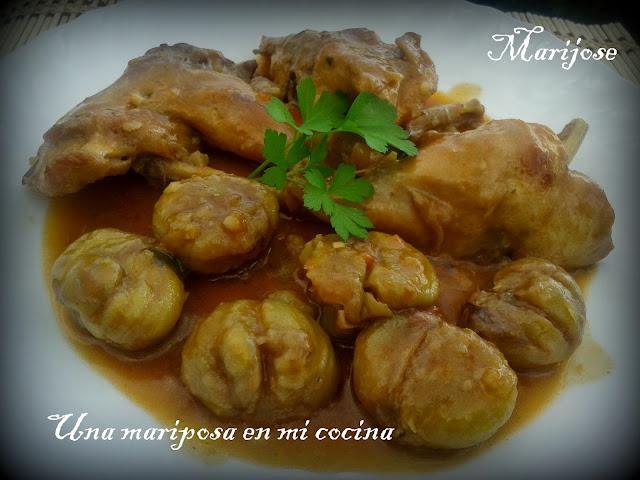 Conejo estofado con casta as recetas de cocina - Castanas cocidas tiempo ...