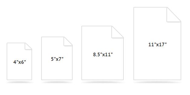 photo paper sizes