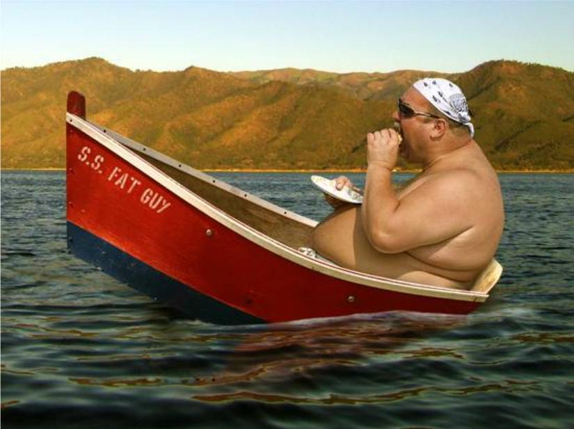 Tony in his boat