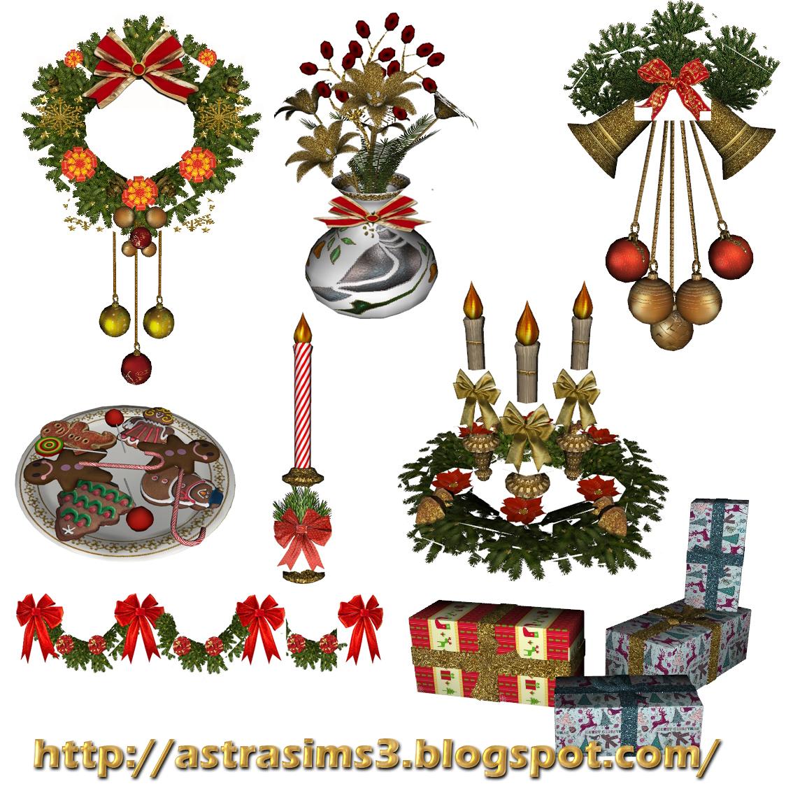 Christmas Decor Sims 3 : Astrasims newsea sims tr haven