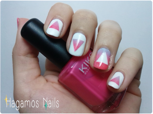 Uñas con triangulos en degradado. Hagamos Nails