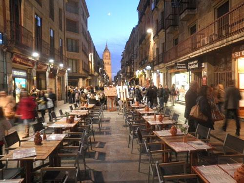 Spanje reizen uitgaan in salamanca - Calle valencia salamanca ...