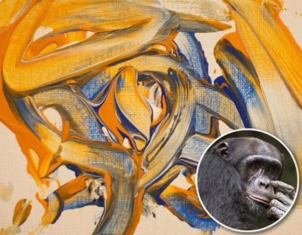 Lukisan Hasil Karya Gajah Dan Primata [ www.BlogApaAja.com ]