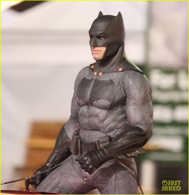 スーサイド・スクワッドの撮影現場にバットマン
