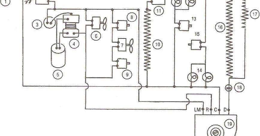 tecnico en refri  diagrama electrico de un refrigerador