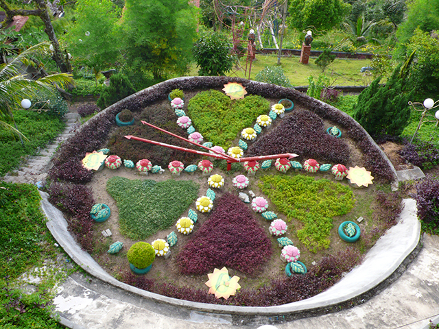 A clock garden at Bukit Genting.