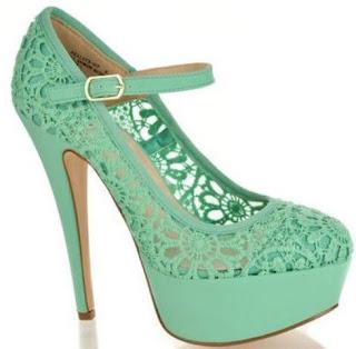 mint green lace heels flower crochet heel a elegance minty