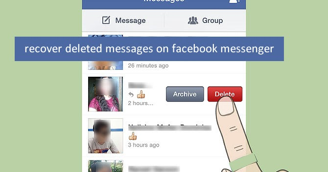 how to see deleted messages on facebook messenger on iphone