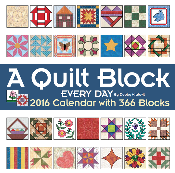 2016 Wall Calendar of Blocks