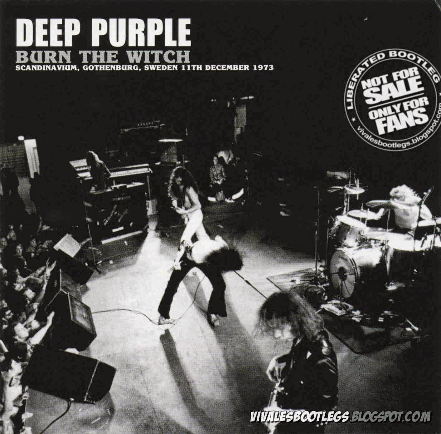Deep Purple Burn the witch front cover