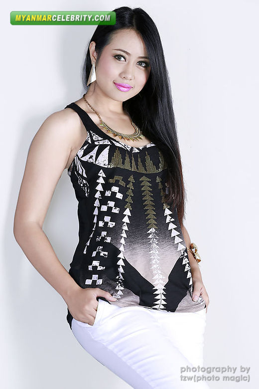 Myanmar Gorgeous Model Girl, Mya Hnin Yee Lwin