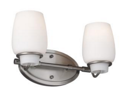 Two Light Vanity Fixture Lighting Jacksonville, FL