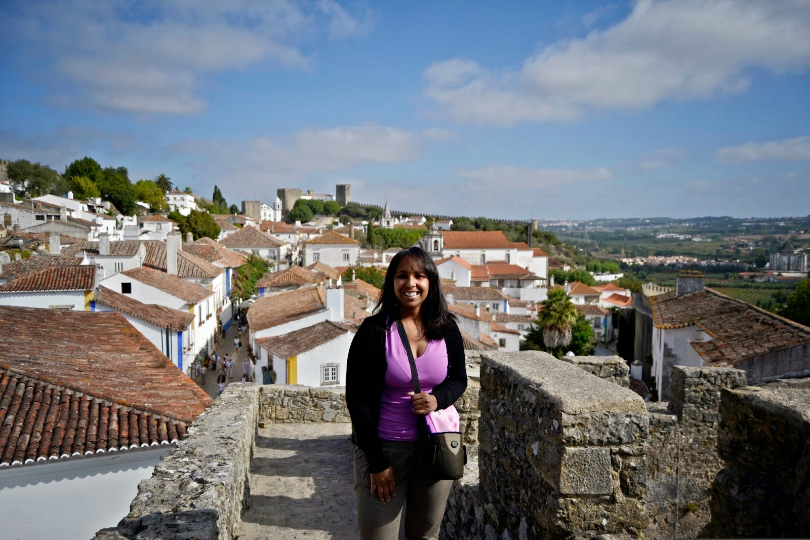 Castelo de Óbidos - Viviane Rodrigues - De Mochila pela Europa!
