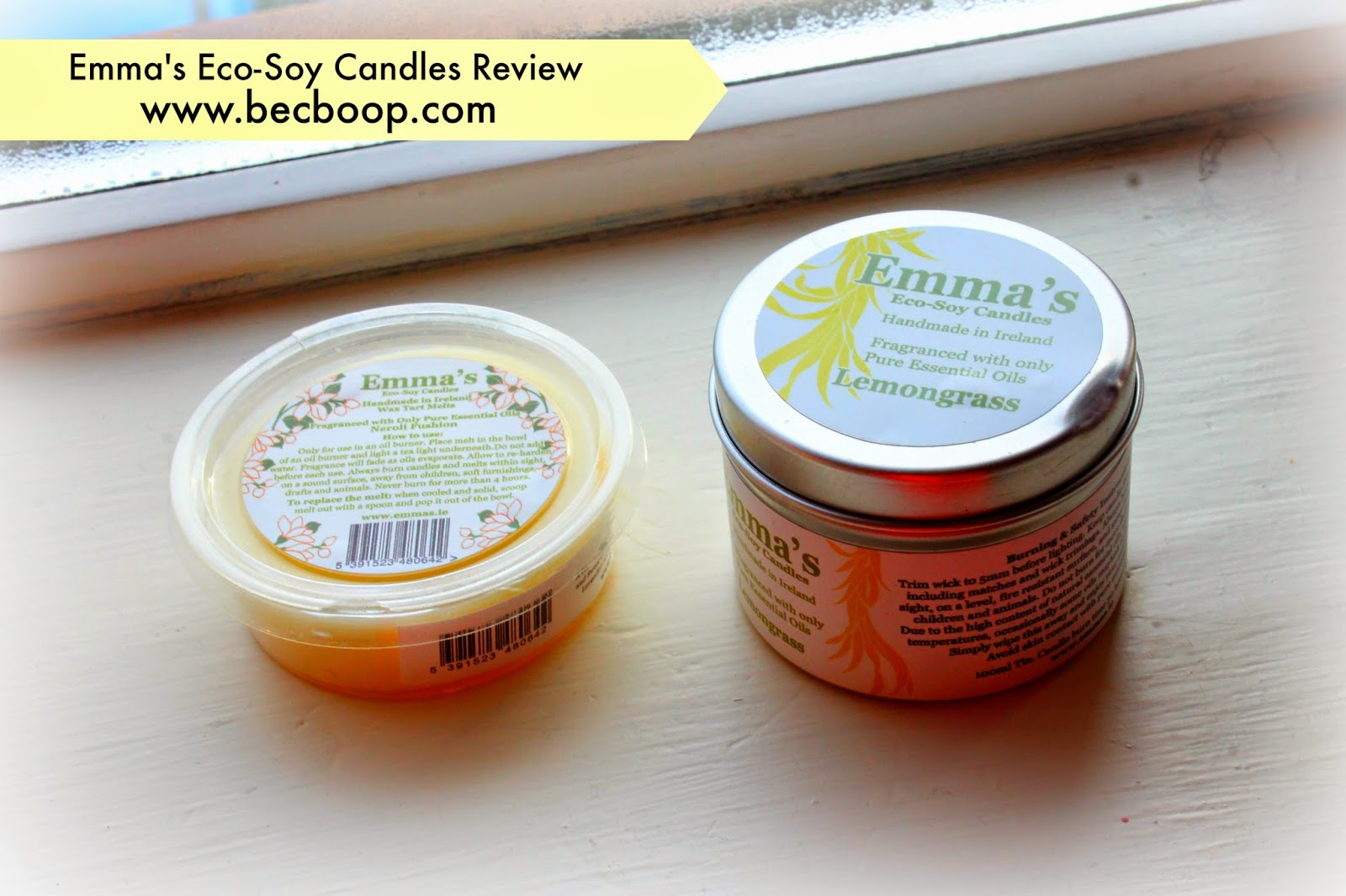 Emma's Eco-Soy Candles blog review