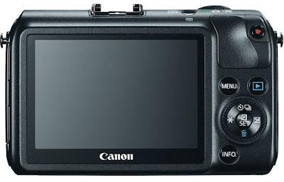 Fotografia della Canon EOS-M vista dal retro
