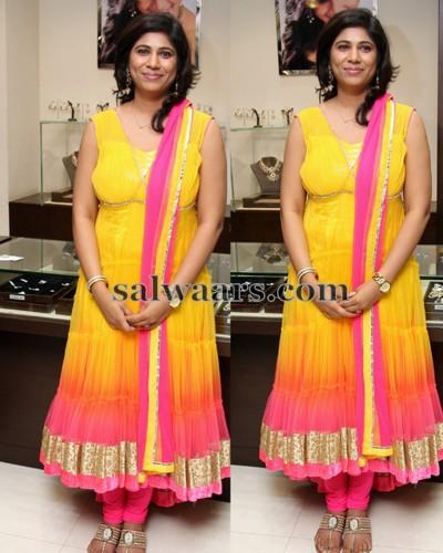 Swetha Reddy Dual Color Salwar