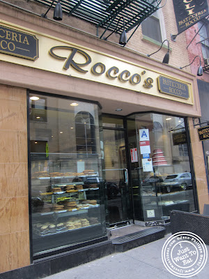 Image of the Entrance of Rocco's in NYC, New York