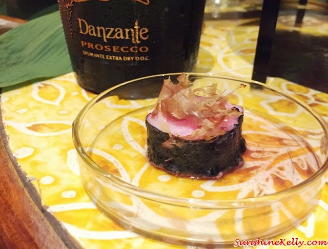 Risotto Roll, Sakura Denbu, Italian & Japanese culinary affair, Vila Danieli, Sheraton Imperial KL, Frescobaldi wine, Japanese Sake, Chef Kamaruddin,