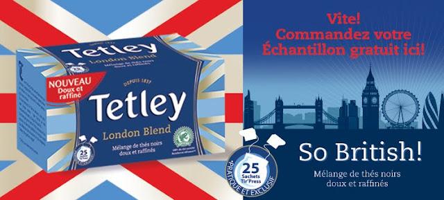 échantillon gratuit du Thé Noir Tetley London Blend !