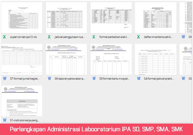 Perlengkapan Administrasi Laboratorium IPA SD, SMP, SMA, SMK