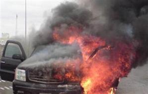 احراق سيارة ترحيلات والاستيلاء على 5 سيارات , ب قسم عتاقة بمحافظة السويس