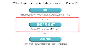 MYFREECOPYRIGHT - protect my BLOG/PODCAST