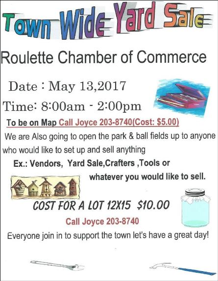 5-13 Roulette Town Wide Yard Sales