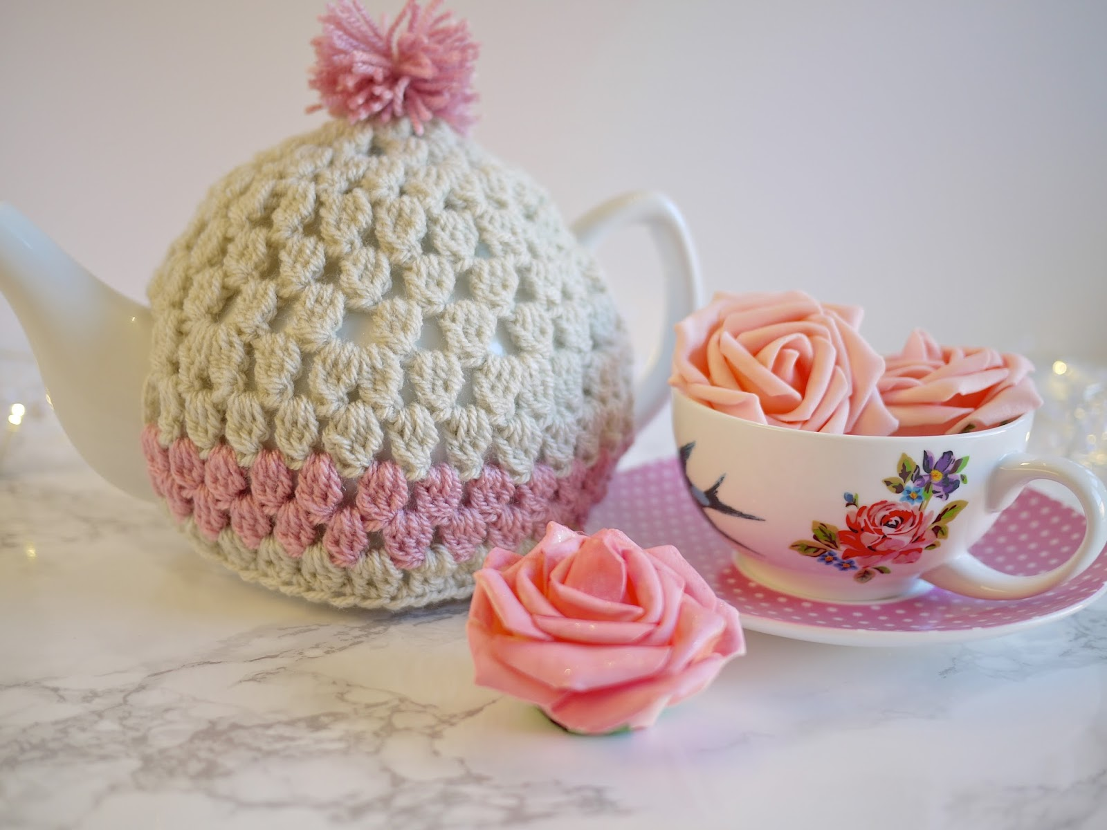 Free Crochet Pattern Small Tea Cozy : Crochet Tea Cosy Pattern - Bella Coco by Sarah-Jayne