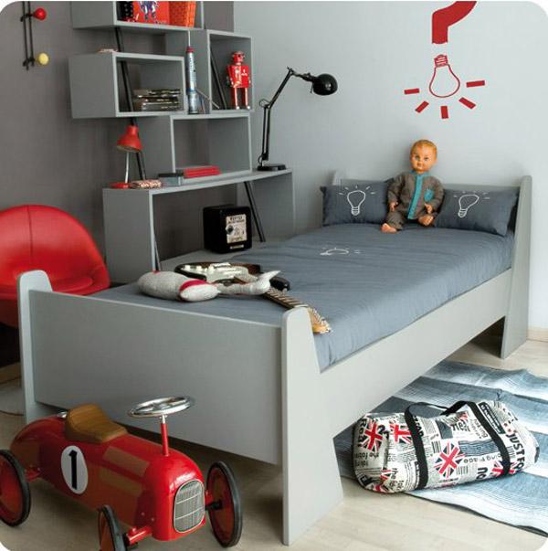 Te lo decoro todo habitaci n infantil en gris - Chambre en rouge et gris ...