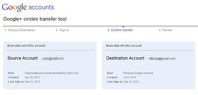Confirm transfer on Google Takeout