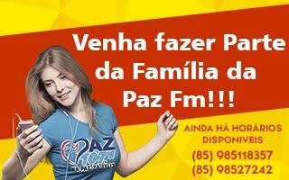 FAÇA PARTE DA PAZ FM!!!