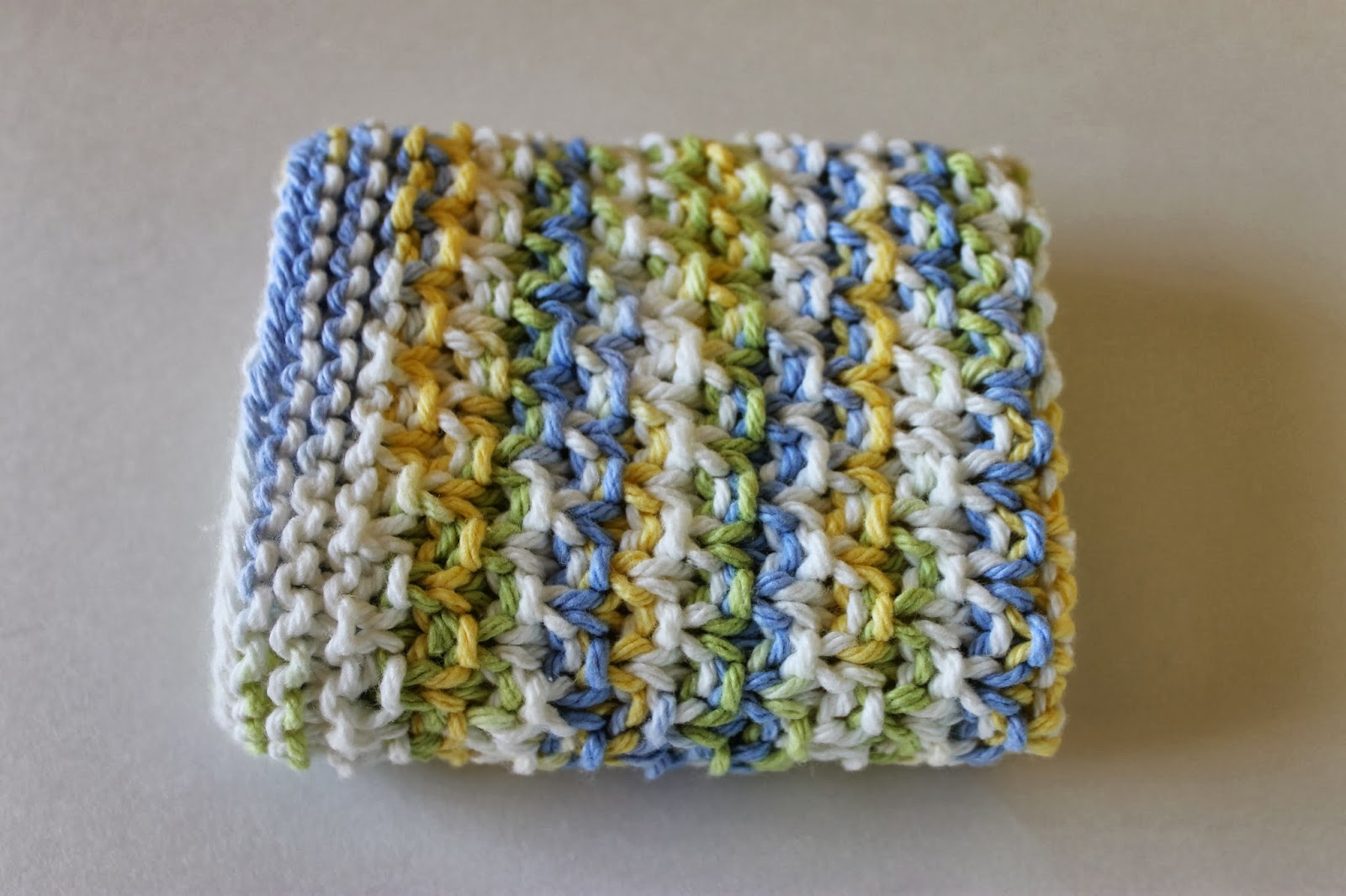 Knitted Moss Stitch Dishcloth Pattern : Stay@Home Stitchings: Moss Stitch Dishcloth