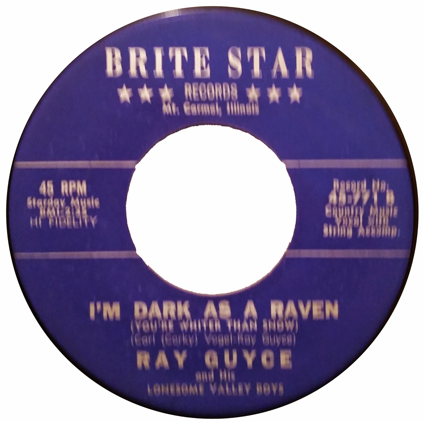 Ray Guyce And His Lonesome Valley Boys Rattle Your Rockets Im Dark As A Raven