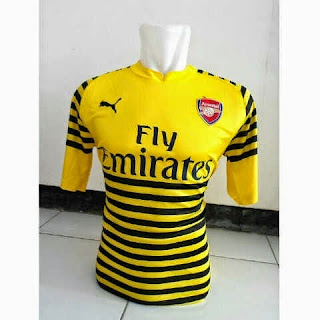 gambar photo Jersey Arsenal training warna kuning terbaru musim 2015/2016
