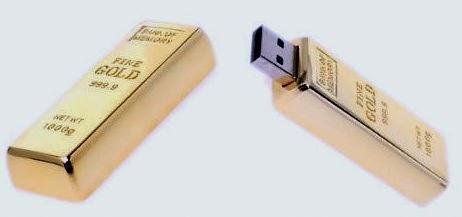 ΠΛΑΚΑ ΧΡΥΣΟΥ Μοναδικό USB 32GB