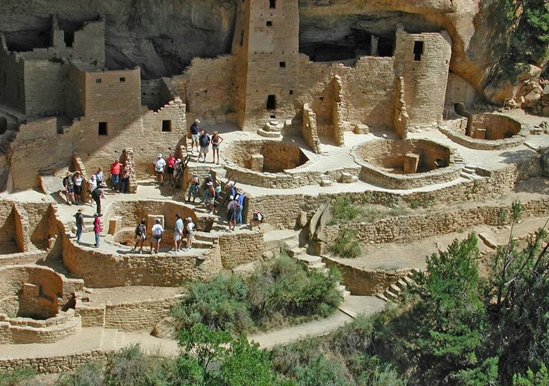 Cliff Palace Closeup, Mesa Verde National Park.