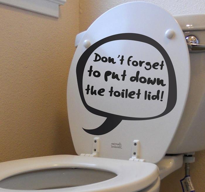 sticker decorativo toilette