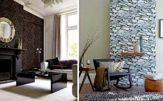 Vive la moda 10 tips para estar a gusto en casa - Papel pared salon ...