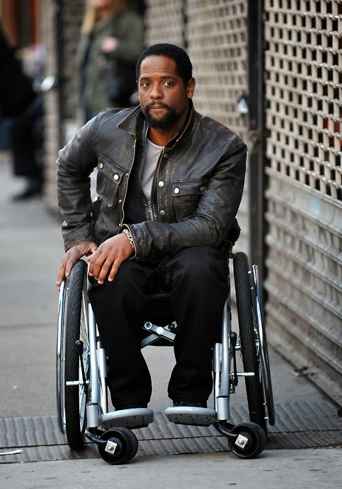 "Publicity photo of actor Blair Underwood in the TV series ""Ironside""."