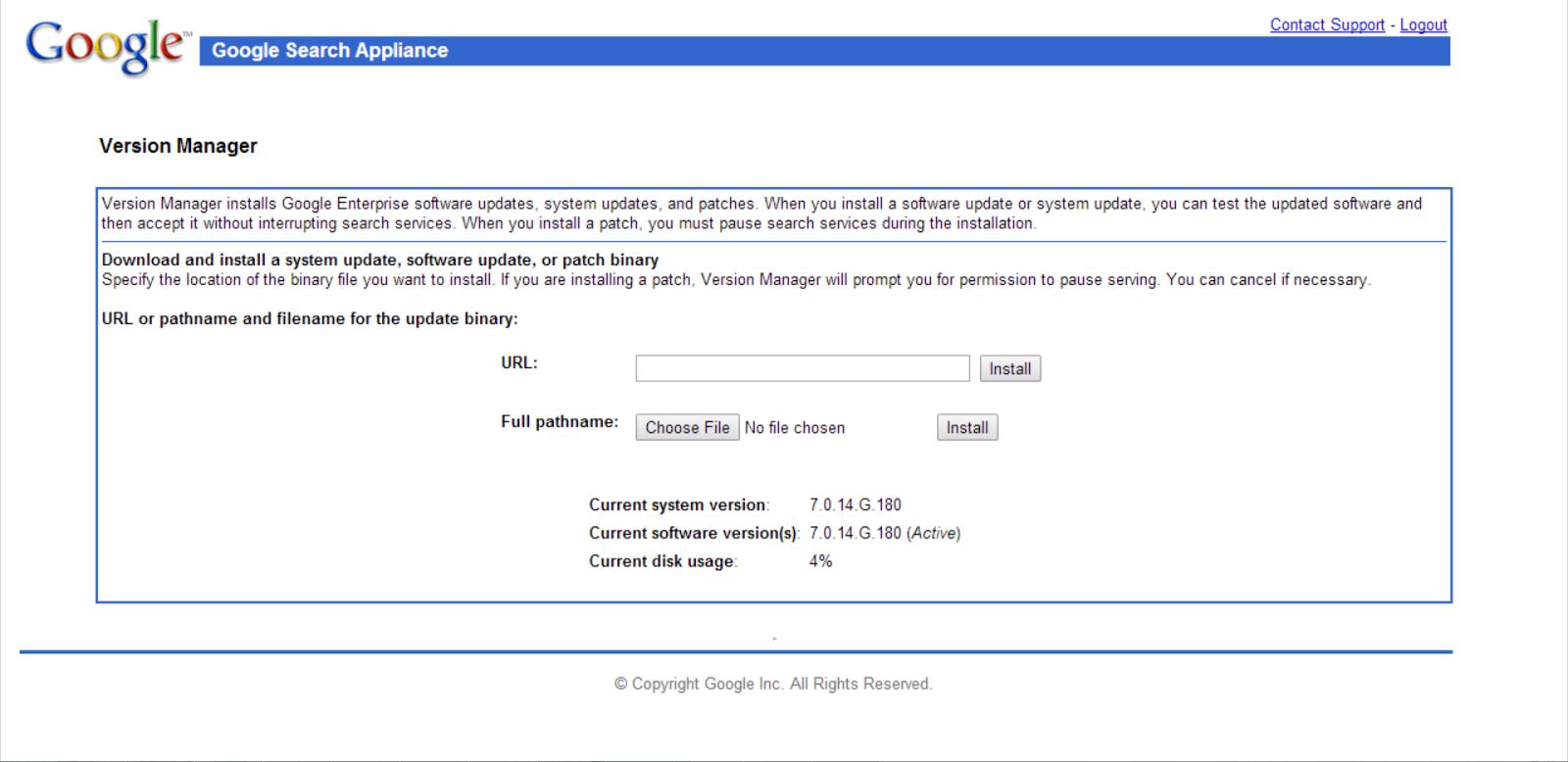 GSA 7.0 Version Manager